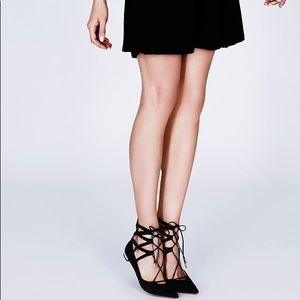 Aquazzura lace up ballerina shoes